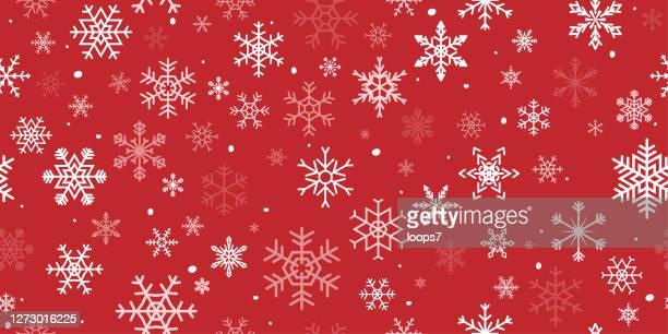 snowflake seamless pattern - christmas paper stock illustrations