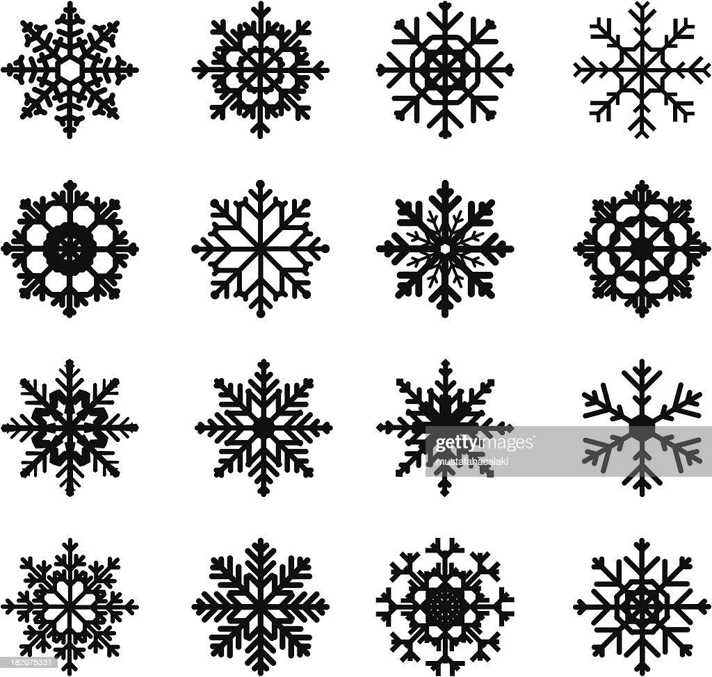 snowflake silhouettes