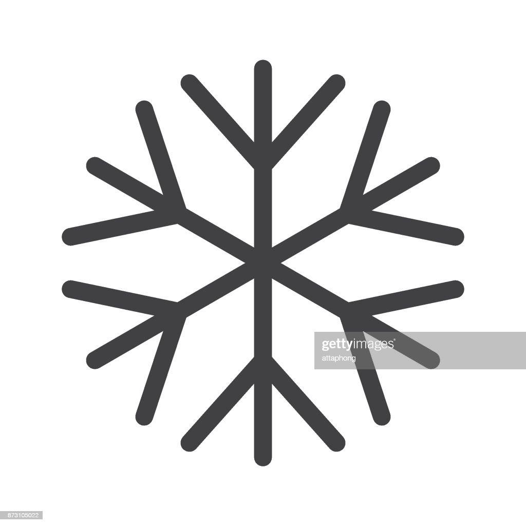 Snowflake Symbol For Christmas On White Background Vector Vector Art