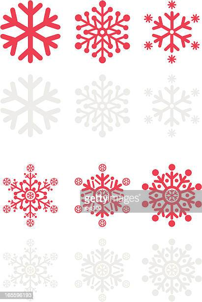 Snowflake Vector Icon Set 2