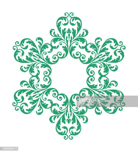 snowflake - filigree stock illustrations