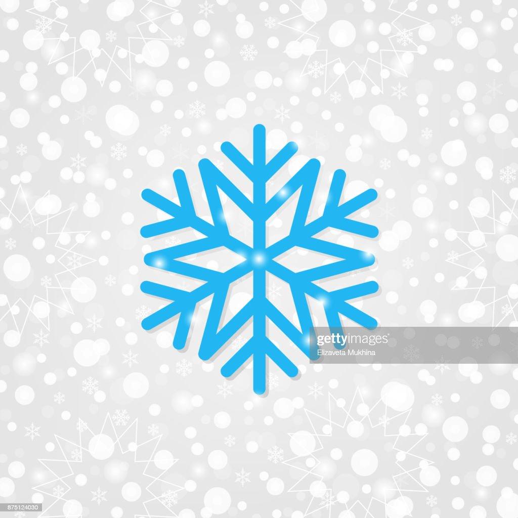 Schneeflockensymbol Vektor Für Die Dekoration Frohe Weihnachten ...