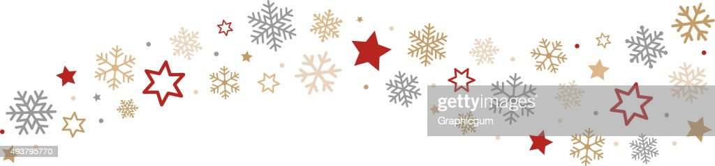 Snowflakes and Stars Border