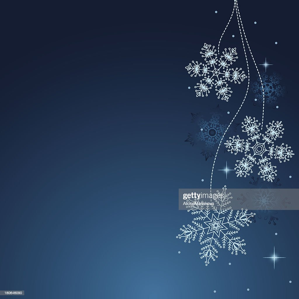 Snowflakes background in vector EPS 10.