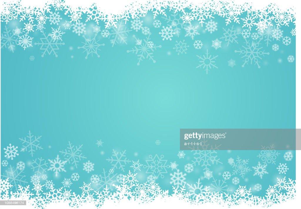 Sneeuwvlokken achtergrond : Stockillustraties