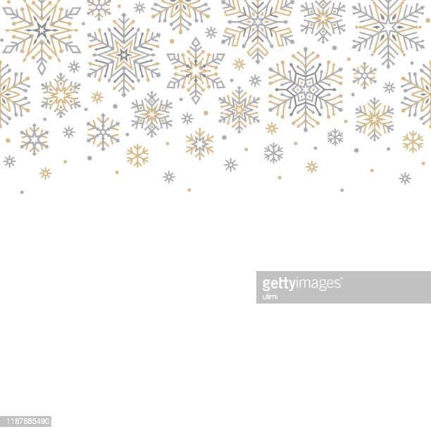 snowflakes background - snowflake shape stock illustrations