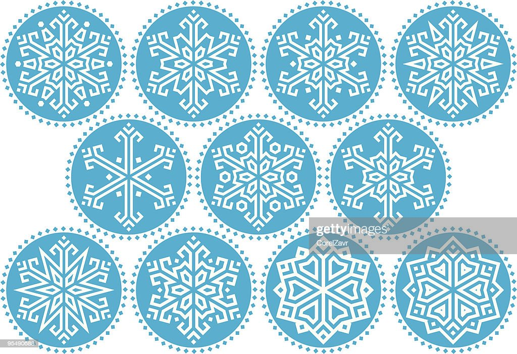 Snowflakes Blue Round Kit_2