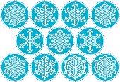 Snowflakes Blue Round Kit_2