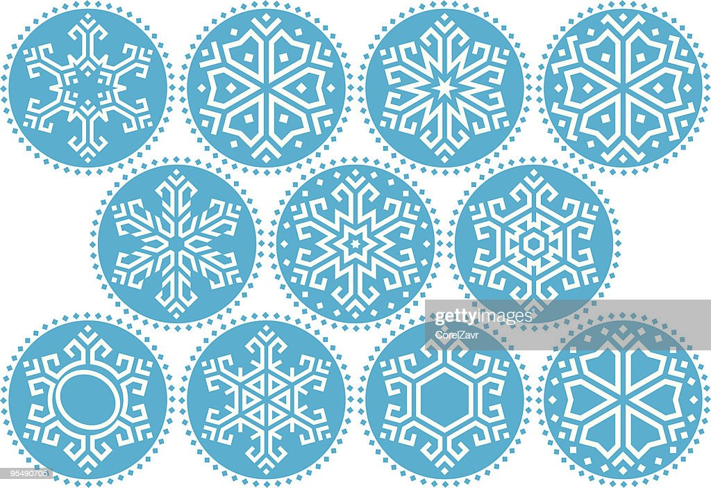 Snowflakes Blue Round Kit_3