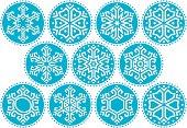 Snowflakes Blue Round Kit_3