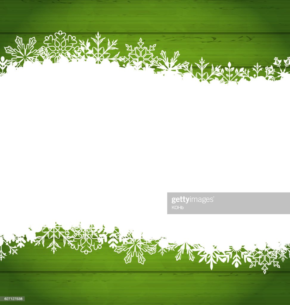 Snowflakes Border for Happy New Year, Space  Your Text