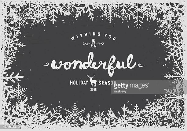 snowflakes border - 2016 stock illustrations, clip art, cartoons, & icons