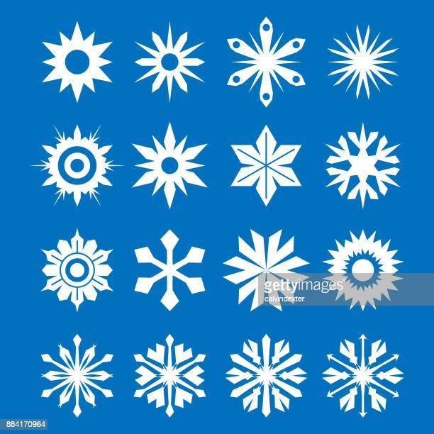 snowflakes collection - simplicity stock illustrations, clip art, cartoons, & icons