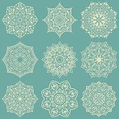 Snowflakes for embroidery.