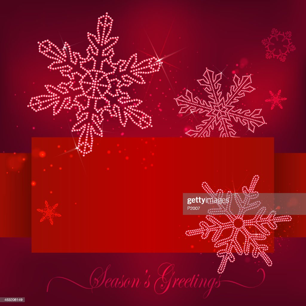 Snowflakes Holiday Banner Vector Art Getty Images