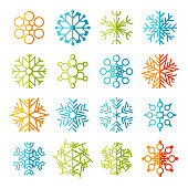 Snowflakes icon set