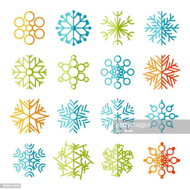 Snowflakes icon set