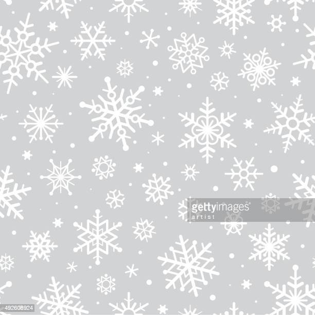 snowflakes pattern - frost stock illustrations, clip art, cartoons, & icons