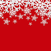 Snowflakes seamless border. Christmas holiday background. Sale banner