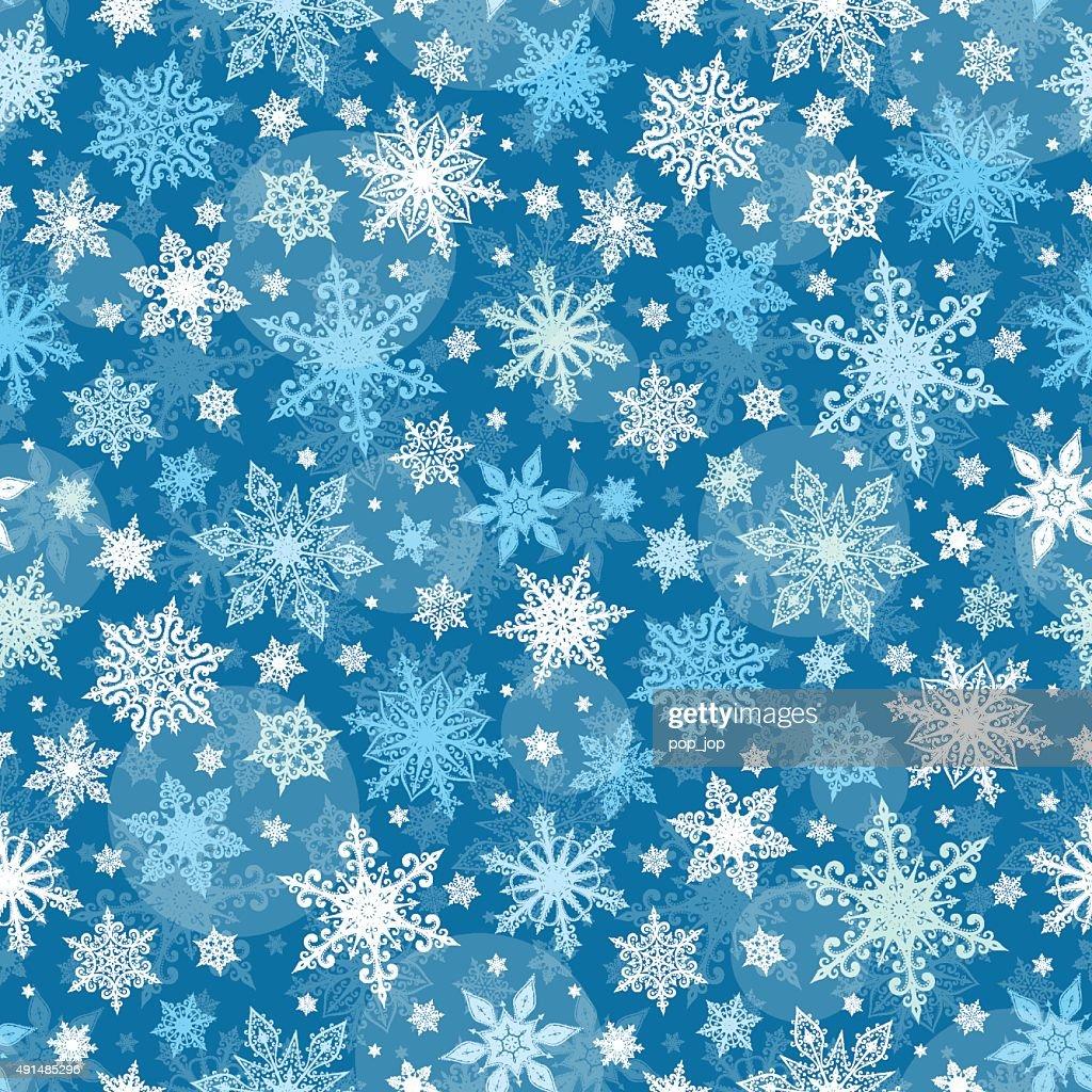 Snowflakes Seamless Pattern - Illustration
