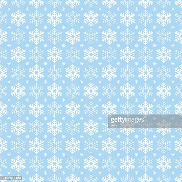 ilustrações, clipart, desenhos animados e ícones de padrão sem costura flocos de neve - frio