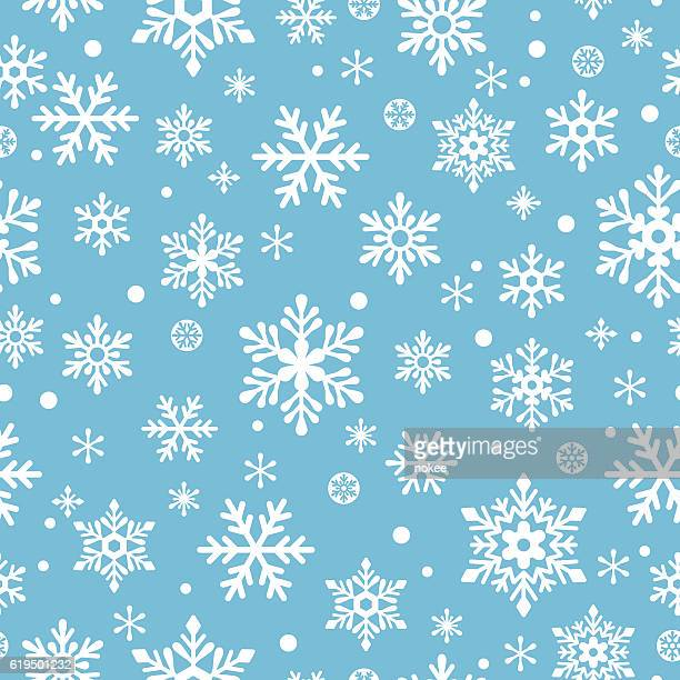 snowflakes seamless pattern - pattern stock illustrations, clip art, cartoons, & icons