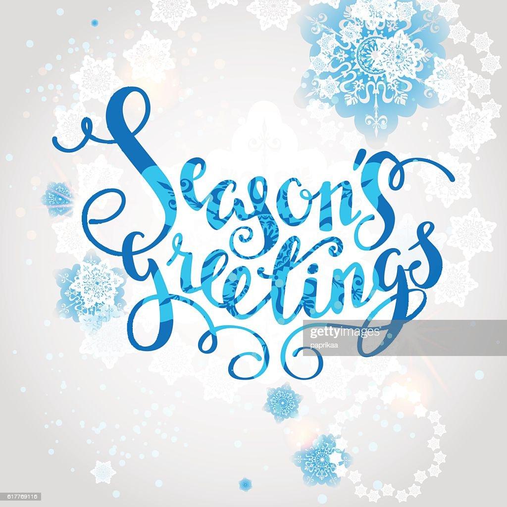 Snowflakes season background