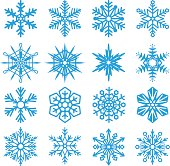 Snowflakes set icon collection on white background. Vector illustration.