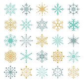 Snowflakes vector collection