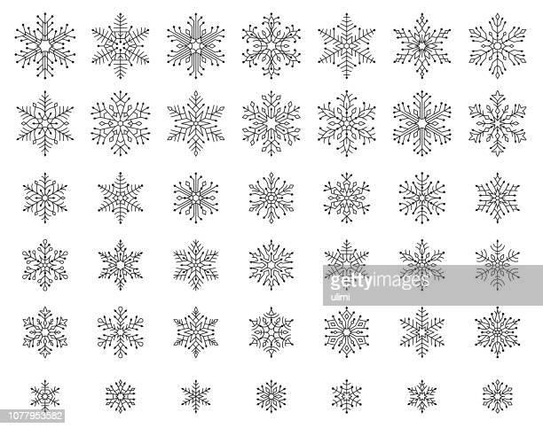 雪の結晶 - 雪の結晶点のイラスト素材/クリップアート素材/マンガ素材/アイコン素材