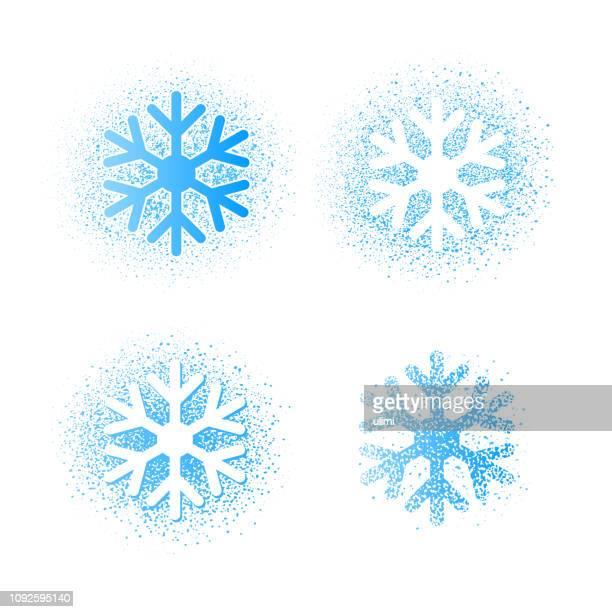 snowflakes - stencil stock illustrations