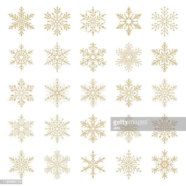 snowflakes - snowflake shape stock illustrations