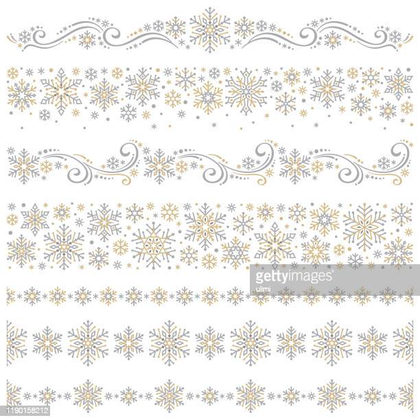 snowflakes - at the edge of stock illustrations