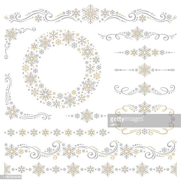snowflakes - ornate stock illustrations