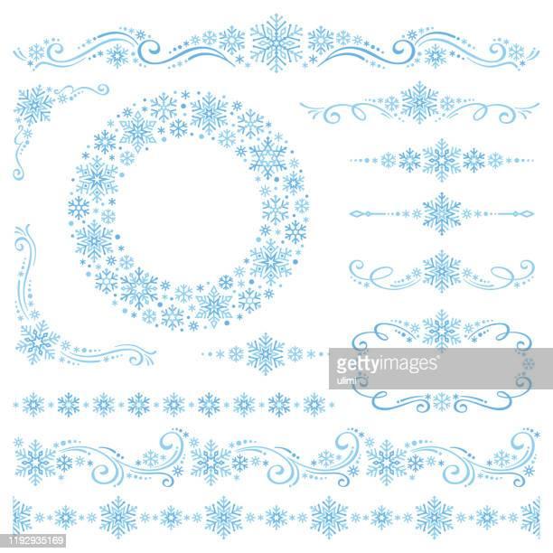 schneeflocken - dekoration stock-grafiken, -clipart, -cartoons und -symbole