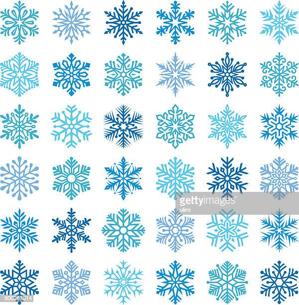 snowflakes - frost stock illustrations, clip art, cartoons, & icons