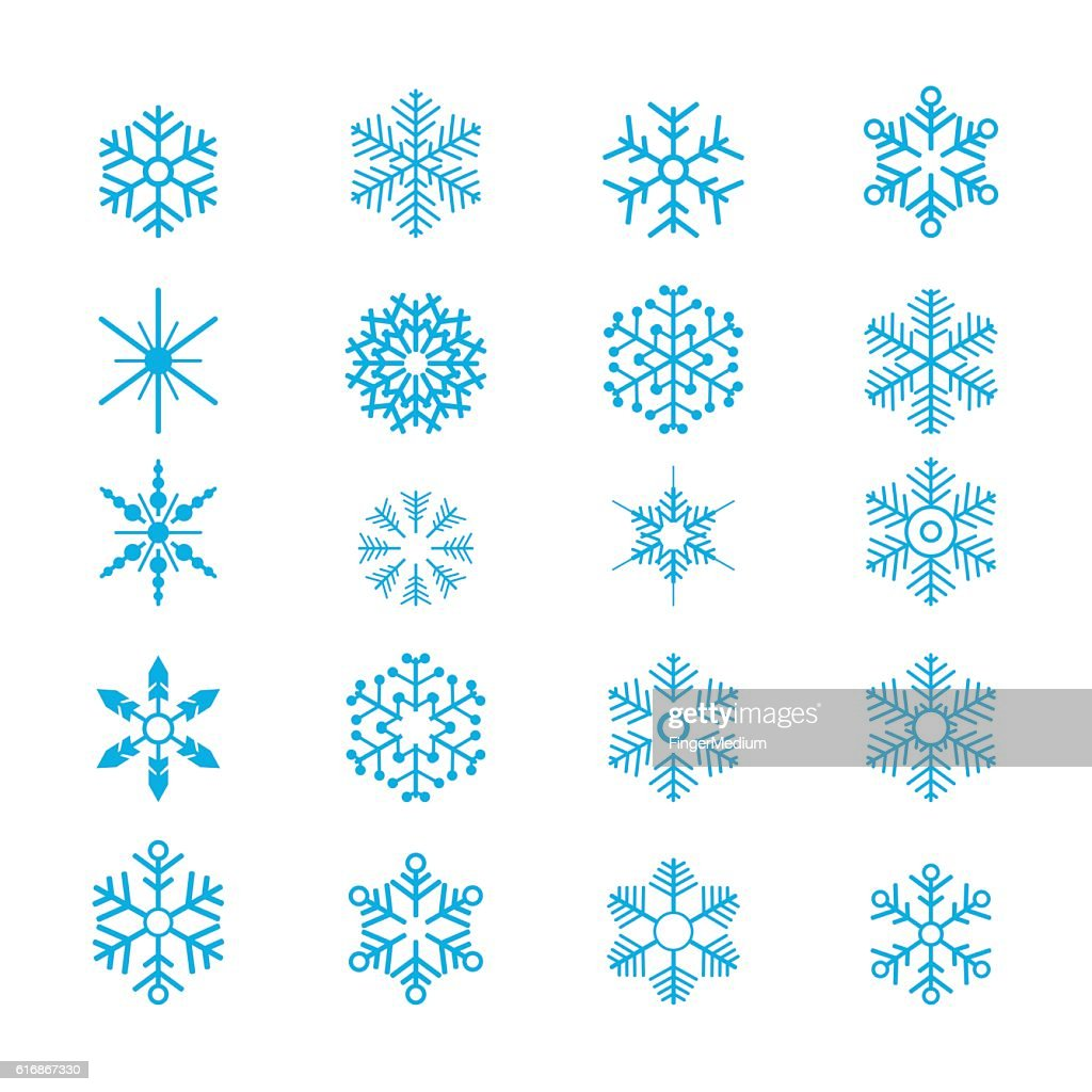 Snowflakes : Vector Art