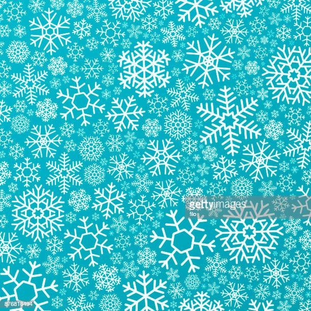 Snowflakes Winter Holiday Background