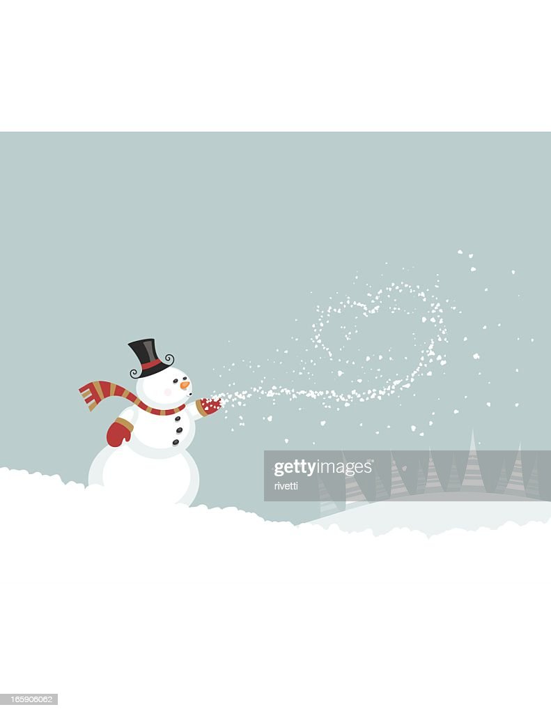 Snowman Blowing Snow