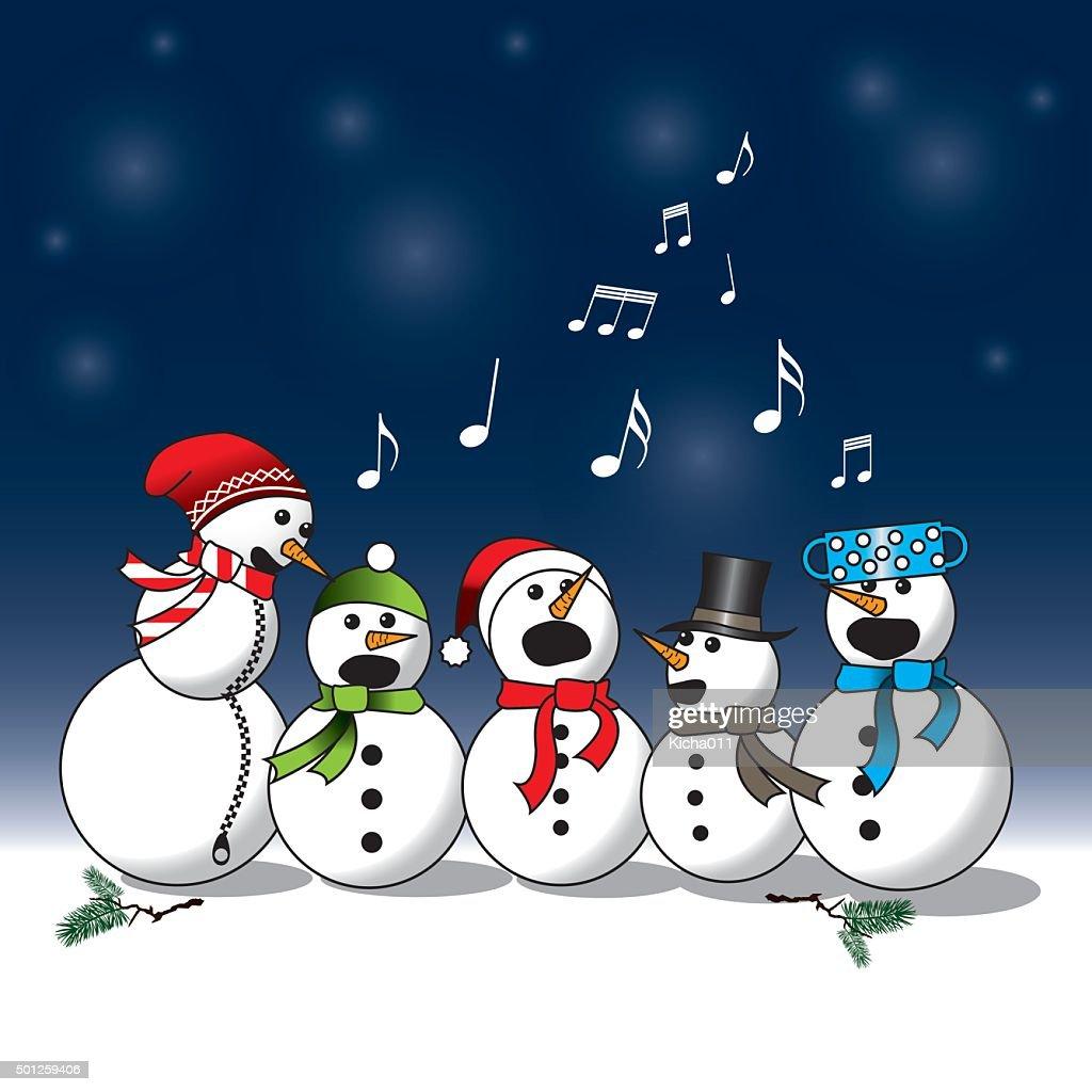 Snowman choir -carol