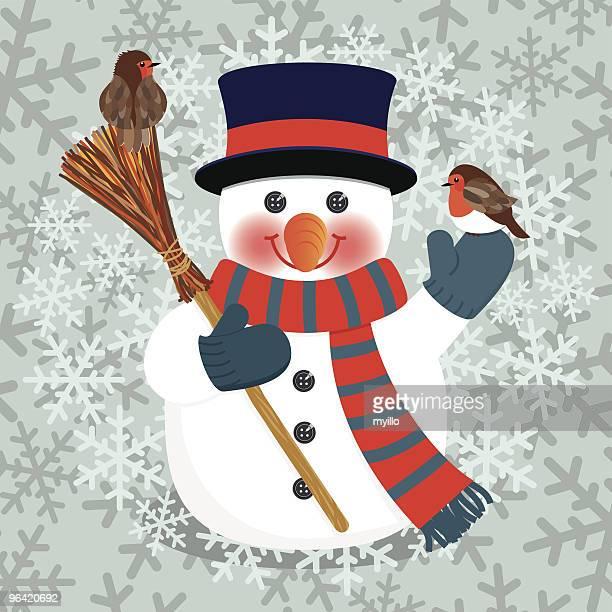スノーマンクリスマスカード