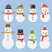 Snowman collection for christmas and winter