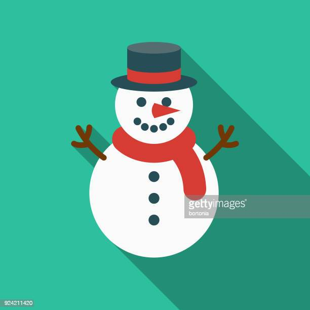 snowman flat design canadian icon with side shadow - snowman stock illustrations