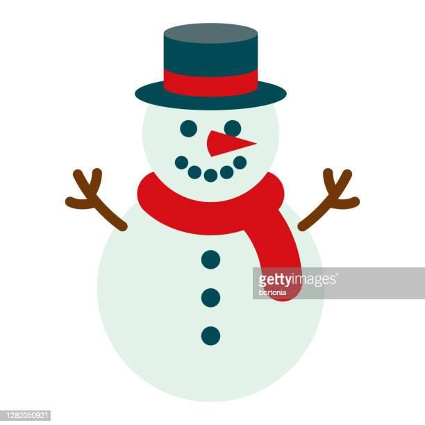 snowman icon on transparent background - snowman stock illustrations