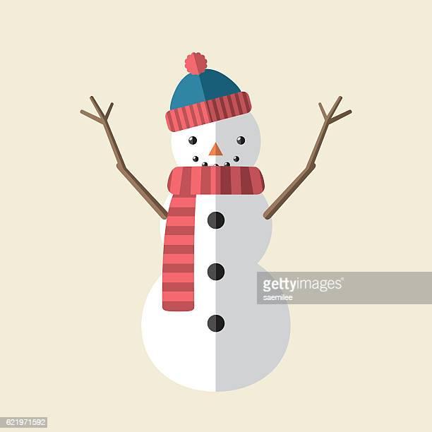 snowman icon - snowman stock illustrations