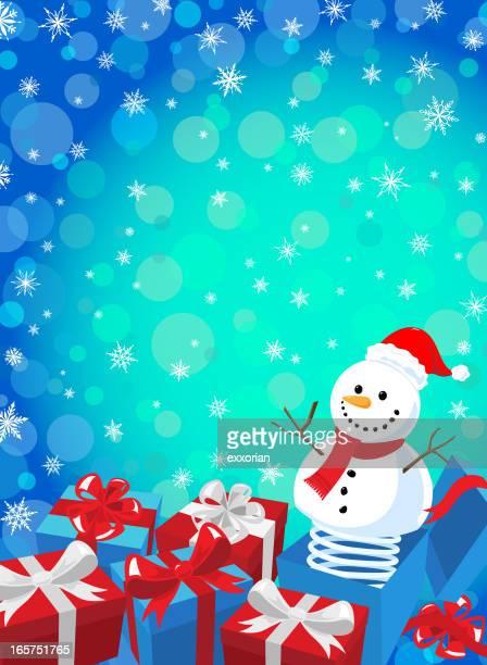 illustrations, cliparts, dessins animés et icônes de bonhomme de neige jack in the box - diable à ressort