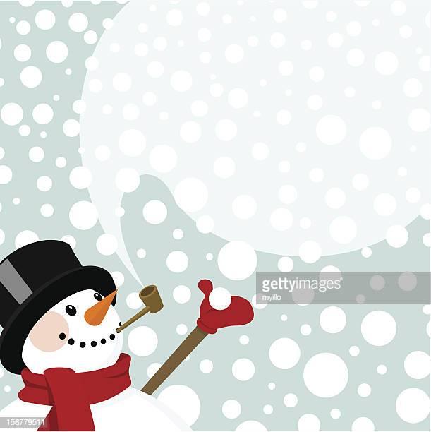 snowman snow snowing happy cute invitation winter vector - bong stock illustrations