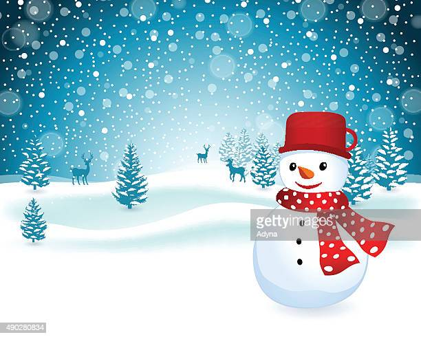 snowman - frost stock illustrations, clip art, cartoons, & icons