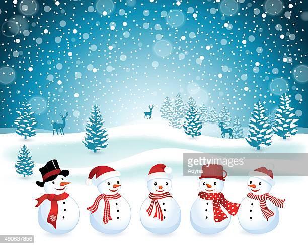 snowman - snowman stock illustrations