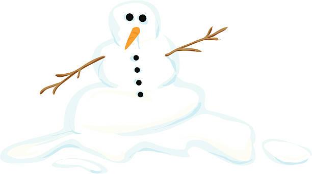 snowman - melting stock illustrations